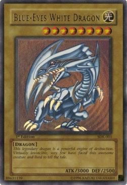 Le dragon blanc aux yeux bleus est la carte la plus emblématique de YU GI OH