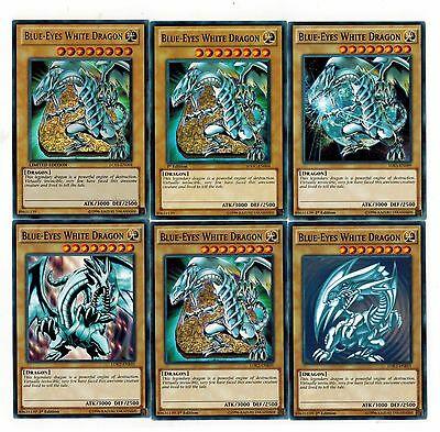 différents artwork pour le dragon blanc aux yeux bleus