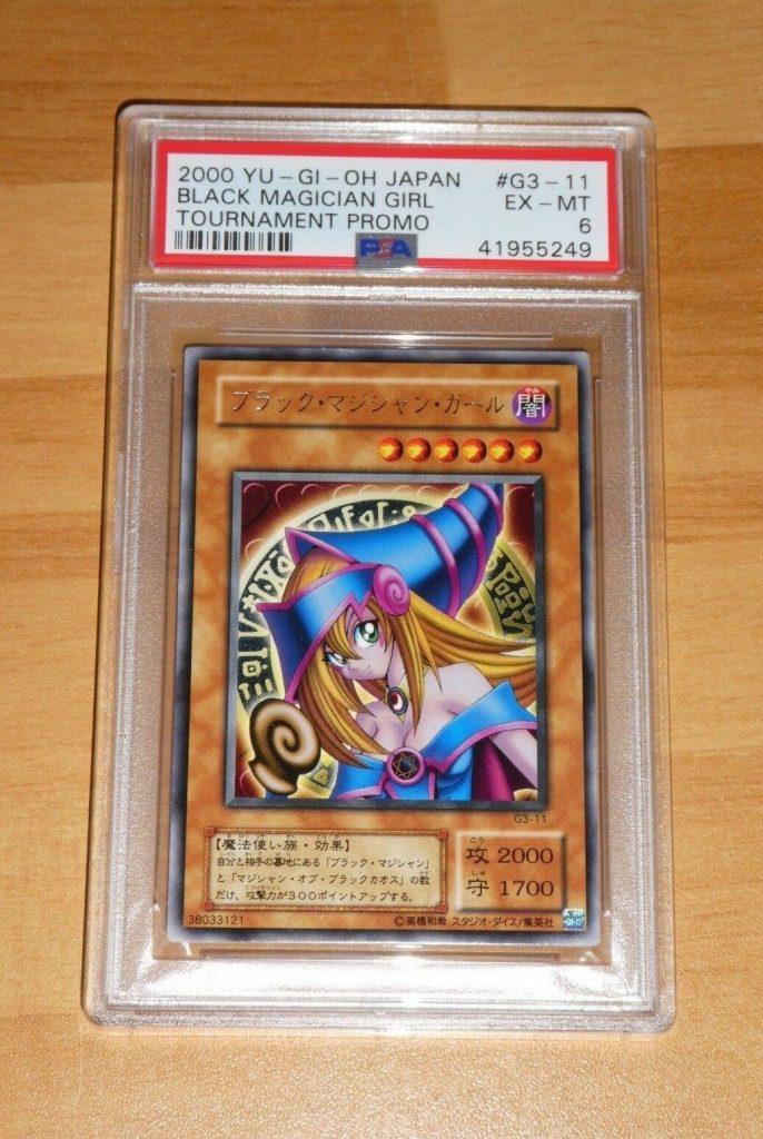 édition de tournoi japonaise Dark Magician Girl, qui s'est vendue 9 000 €